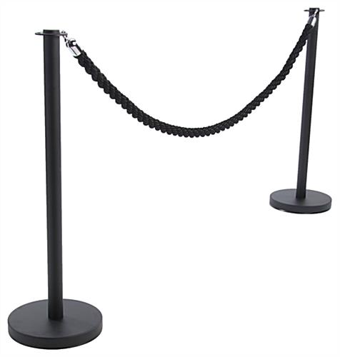 Black Queue Rope with (2) Posts