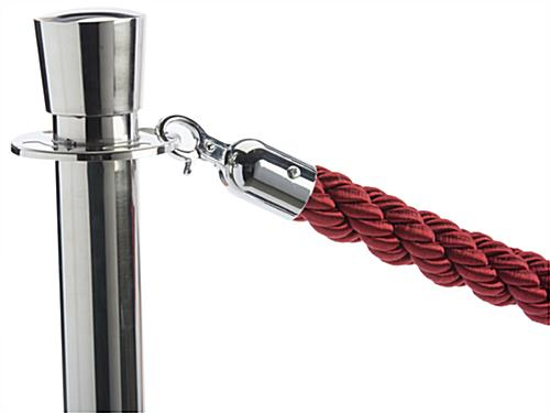 Red Twisted Rope with (2) Posts