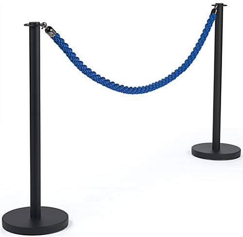 Twisted Blue Queue Rope with Post