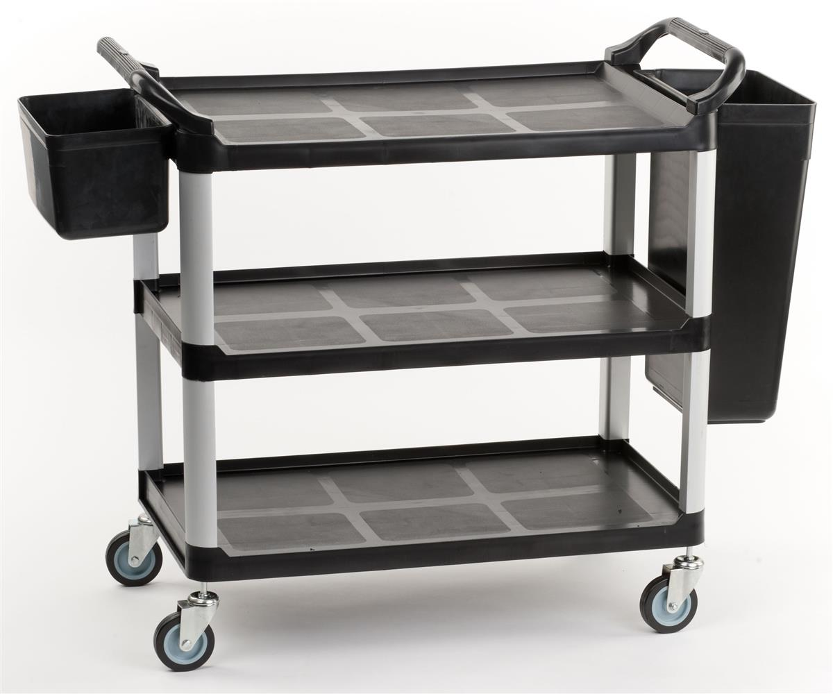 Utility Cart With Bins For Rubbish & Utensils