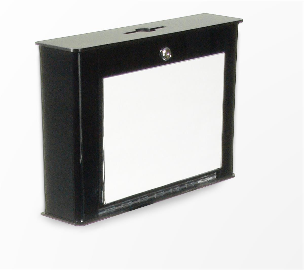 Displays2go Key Drop Box with 11 x 7.5 Frame & Lock, Wall...