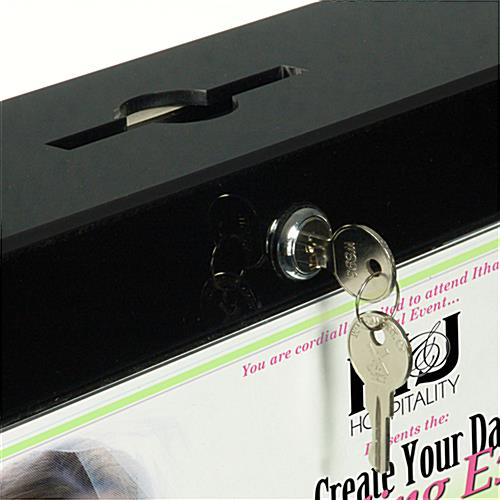 Secure Drop Box Stand For Hotel Keys With Anti-Theft Interior Panel