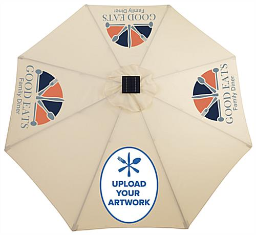 Commercia Patio Umbrella with Custom Graphic