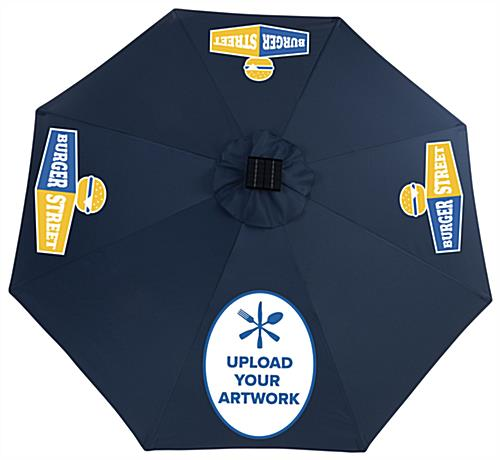 Guests will Enjoy this Navy Business Umbrella with Bluetooth Music Options