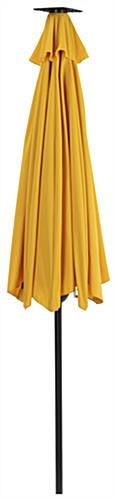 Yellow Custom Patio Umbrella with Crank Functionality for Easy Positioning