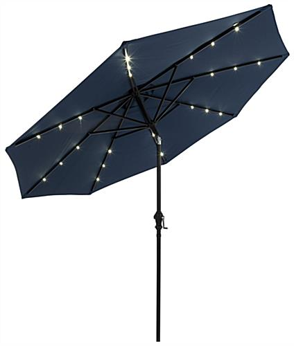 Outdoor Market Umbrella with Solar Powered LED Lights Pre Installed