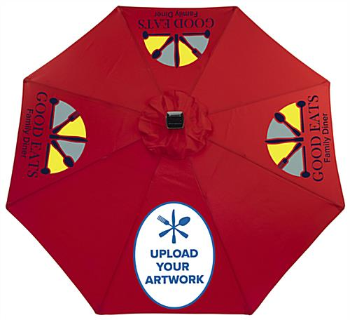 Customizable Patio Market Umbrella with Red Canopy