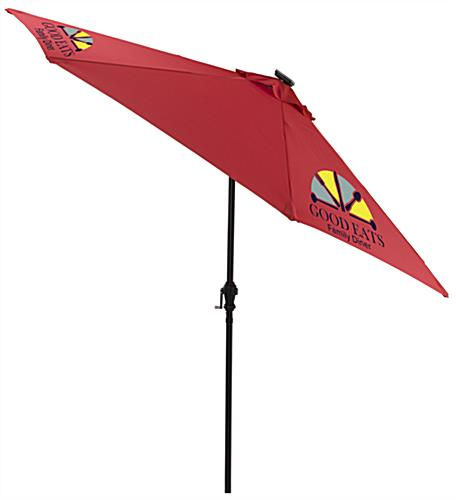 Red Patio Market Umbrella for Businesses with Outdoor Lounge Areas