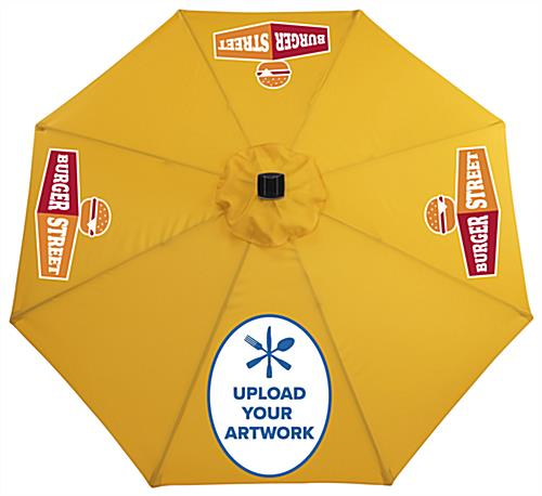 Customizable Yellow Restaurant Umbrella with Company Logo