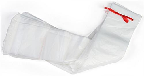 Lightweight clear plastic wet umbrella bags