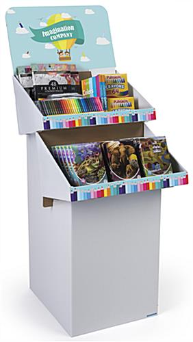Custom Cardboard Display Stands with Customized Shelves