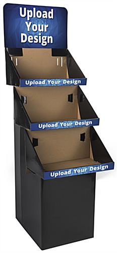 3 Shelf Custom Printed Cardboard Floor Stand with Removable Header