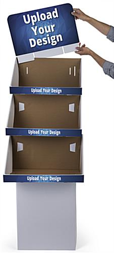 Customized 3 Tier Cardboard FSDU Display with Three Shelves