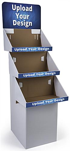 Customized 3 Tier Cardboard FSDU Display with Graphics on Header
