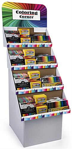 Custom Cardboard Retail Displays Includes Full-Color Images