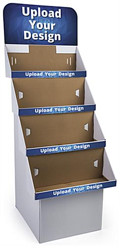 Custom Cardboard Retail Displays with Removable Header