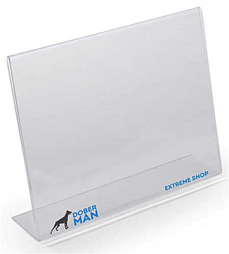 Custom 11 x 8.5 Slanted Marketing Holder