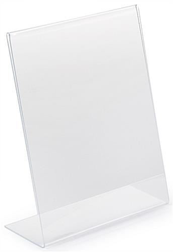 8 x 10 Custom Acrylic Slanted Sign Holder