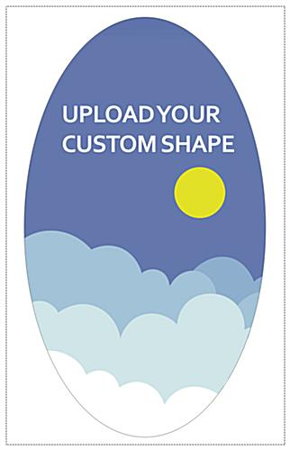 2-sided foam board standee with custom shaped cut and graphics
