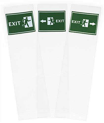 Pack of (3) 10.5x9 replacement exit graphics for FSSS4812EX1