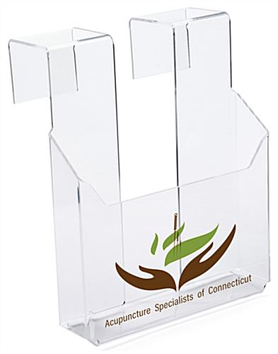 Hanging Literature Holder with Custom Printed UV Graphics