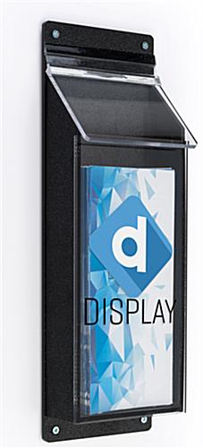 Waterproof branded outdoor 4 x 9 pamphlet display with lid