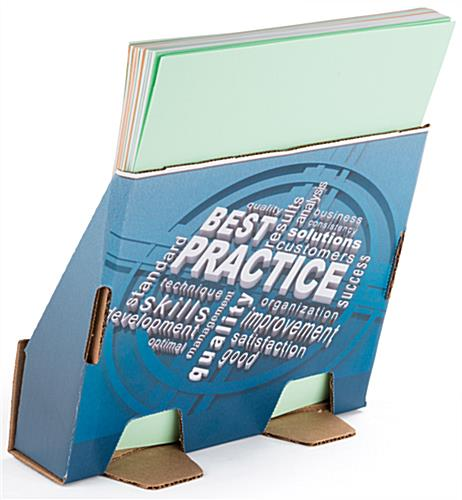 Custom cardboard magazine holder with full color printing