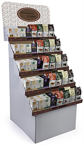 Custom Cardboard Floor Displays Includes Full-Color Advertising Messages