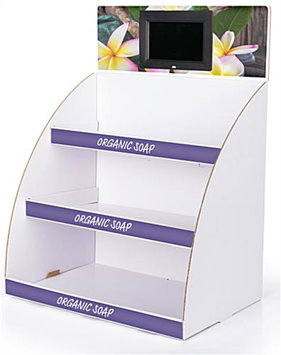 Digital custom cardboard POP countertop display with multimedia screen