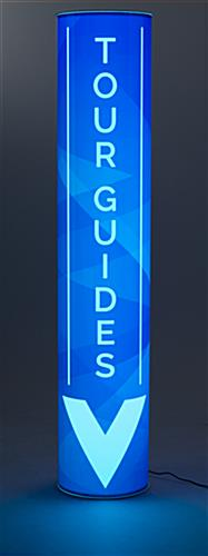 Blue Custom Portable Illuminated Pillar Sign