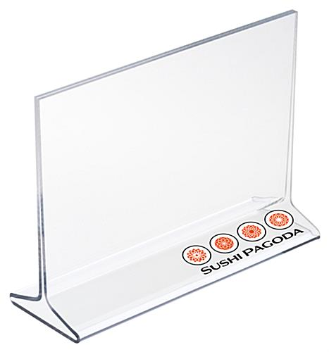 Acrylic Sign Holder with Custom UV Printing