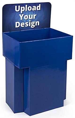 Customized Dump Bin Cardboard Display with Printed Header