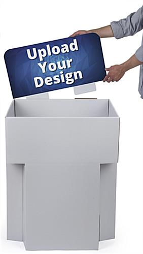 Customized Cardboard Dump Bin Displays for Point of Sale Locations