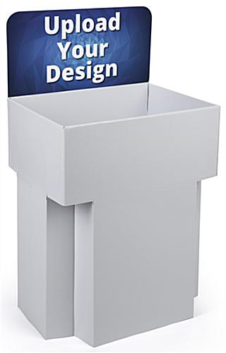 Customized Cardboard Dump Bin Displays for Product Placement