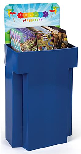 Customized Retail Display Cardboard Bins with Full-Color Image