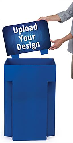 Customized Retail Display Cardboard Bins with Floor Standing Design