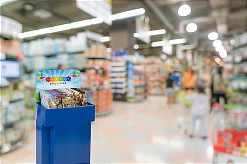 Customized Retail Display Cardboard Bins for Grocery Stores
