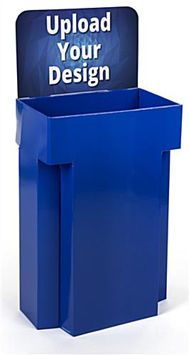 Customized Retail Display Cardboard Bins Includes Printed Graphics