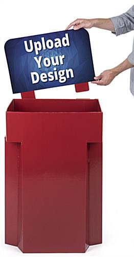 Collapsible Customized Corrugated Dump Bin Floor Display