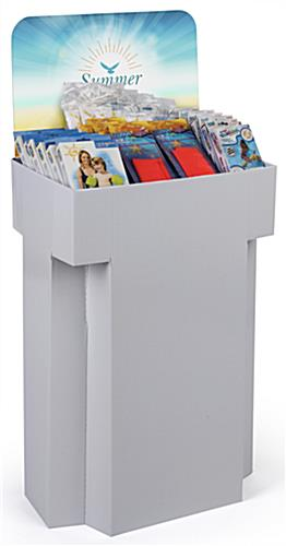 Printable Cardboard Dump Bins for Retail with Single Product Compartment