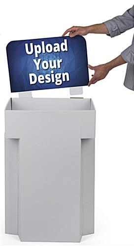 Printable Cardboard Dump Bins for Retail with PSA Sticker