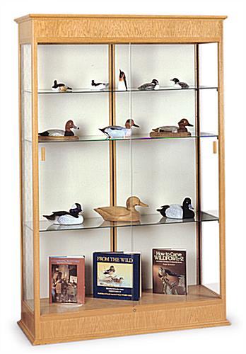 wooden case autumn oak cabinet with glass doors. Black Bedroom Furniture Sets. Home Design Ideas