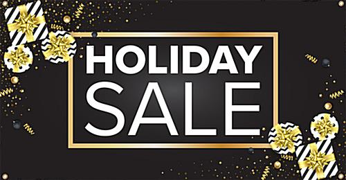 Christmas marketing banner with holiday sale message