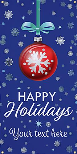 4' x 8' hanging vinyl holiday banner portrait orientation