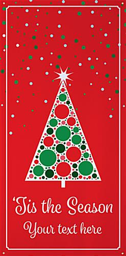 4' x 8' personalized holiday banner with seasonal festive graphics