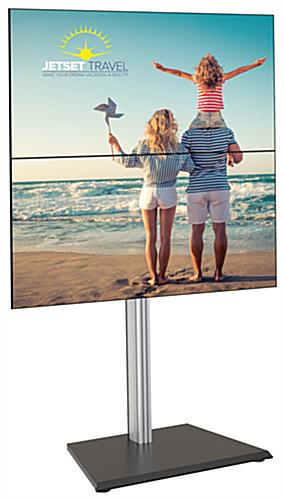 35.9 inch x 25.9 inch vertical dual tv floor stand with a heavy-duty base
