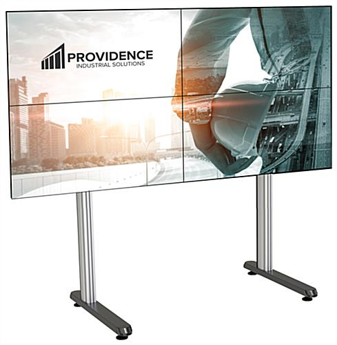 79.09 inch x 39.3 2x2 inch multi-monitor video wall stand with 4 leveling feet
