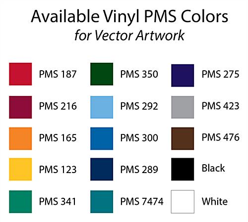 vinyl imprint colors