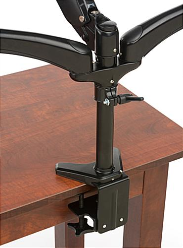 Height Adjustable Triple Monitor Desk Mount
