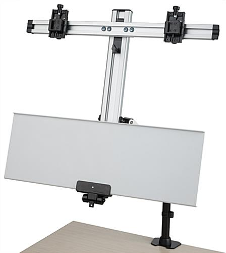 Dual Monitor Desktop Mount with Folding Tray